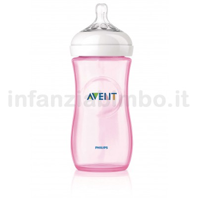 Biberon avent natural 330 ml rosa