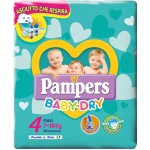Pannolini Pampers Baby Dry Maxi 7-18 Kg Misura 4 (19pz)