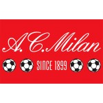Tappeto Associazione Calcio Milan 80 x 120 cm Official Merchandise - Red